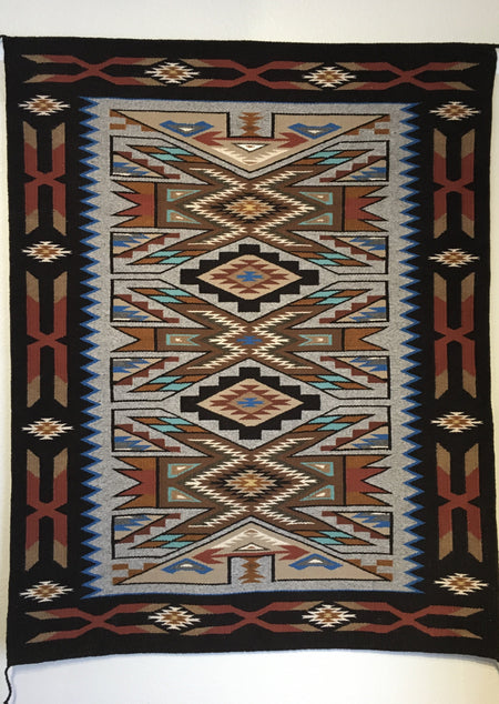 Navajo Rug, Teec Nos Pos Navajo Rug, Irene Littleben Rug at Raven Makes Gallery