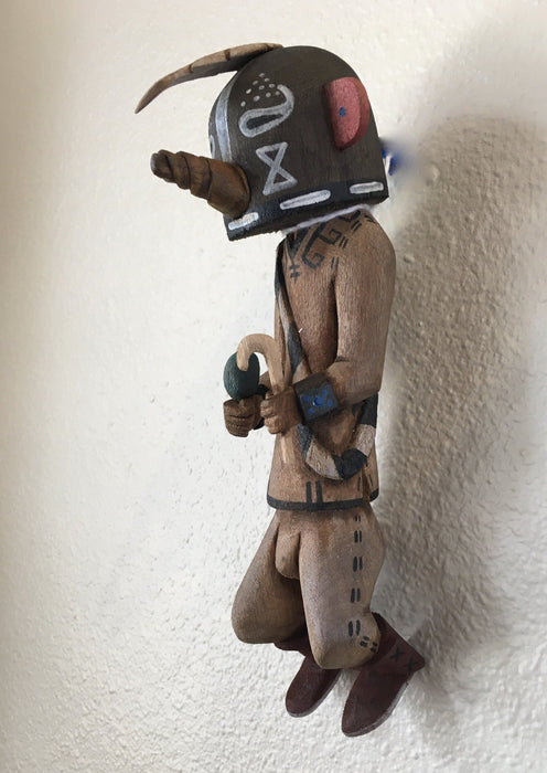 Kokopelli kachina at Raven Makes Gallery