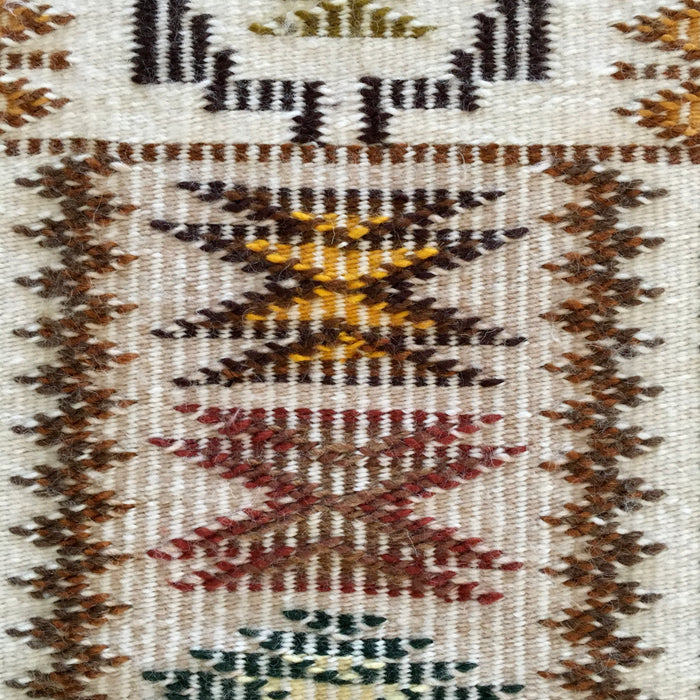 Storm Pattern with Raised Outline Navajo Rug, by Marie Sheppard