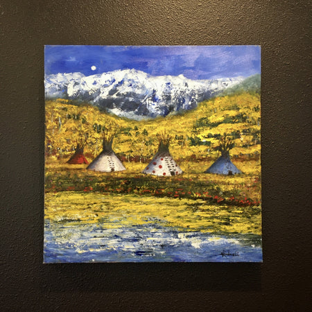 Native American Painting at Raven Makes Gallery