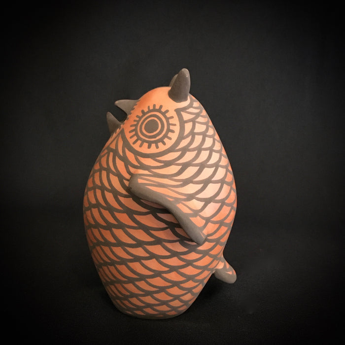 Zuni Pottery Owl Figurine, by Carlos Laate