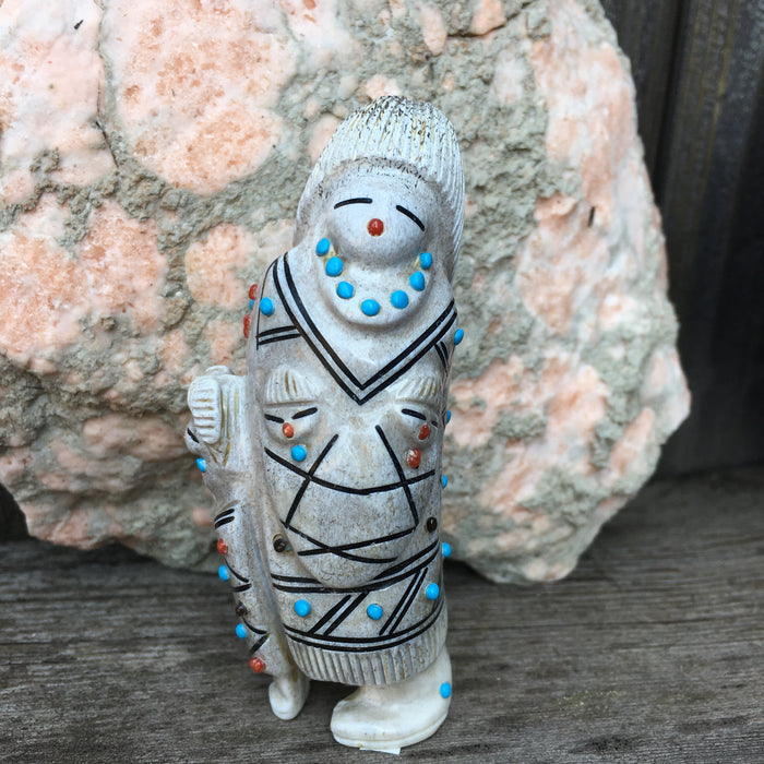 Singing Mother Zuni Carving, by Claudia Peina