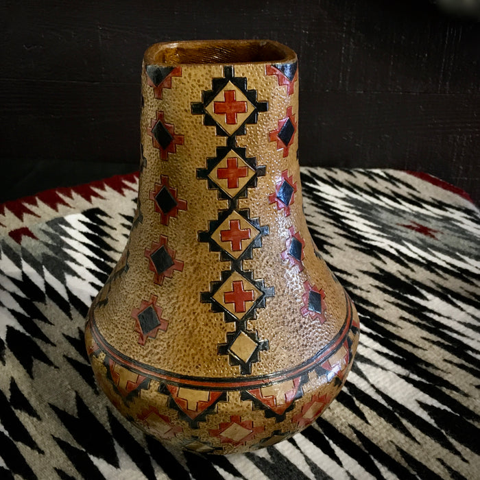 Navajo Pinon Pitch Vase, by Lorraine Williams-Yazzie