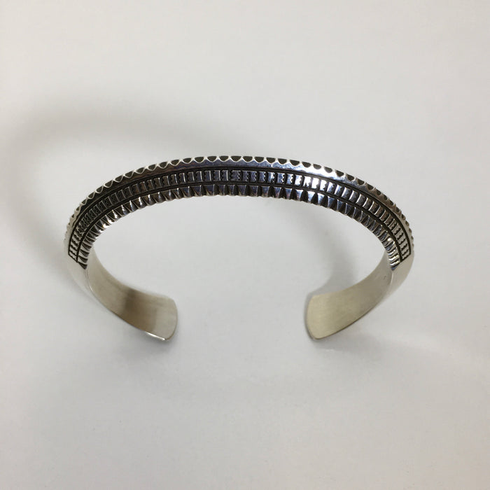 Stamped Silver Bracelet, by Ivan Howard