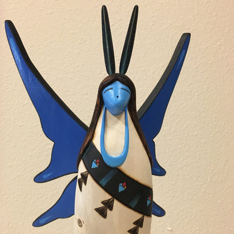 Butterfly Kachina Doll, by Gregg Lasiloo