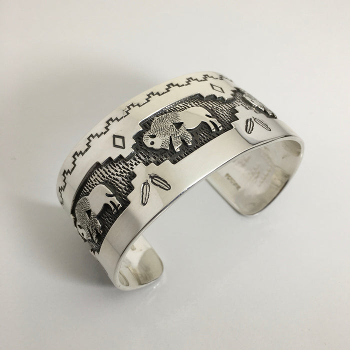 Buffalo Cuff Bracelet, by Fortune Huntinghorse