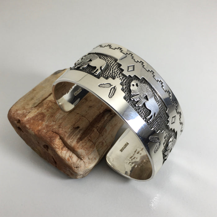 Silver Buffalo Cuff by Fortune Huntinghors