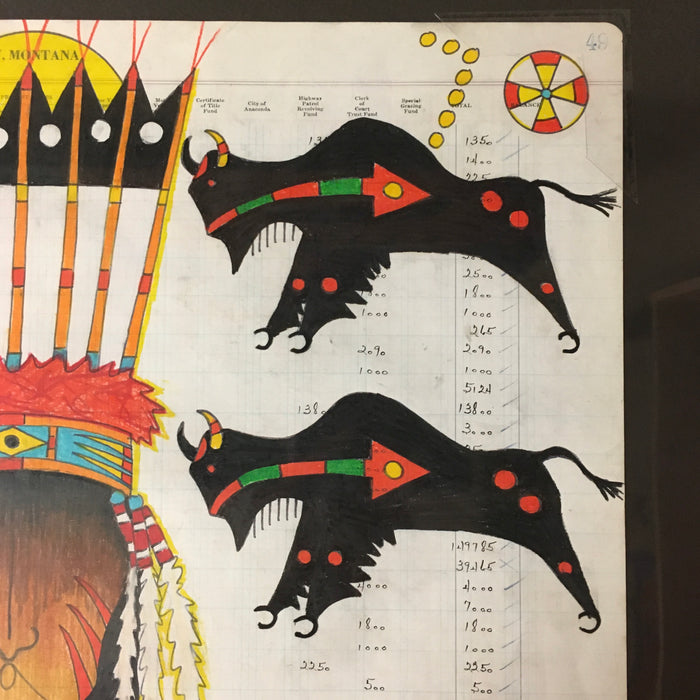 Terrance Guardipee Ledger Art Raven Makes Gallery