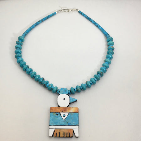 Traditional Thunderbird Necklace by Mary Tafoya