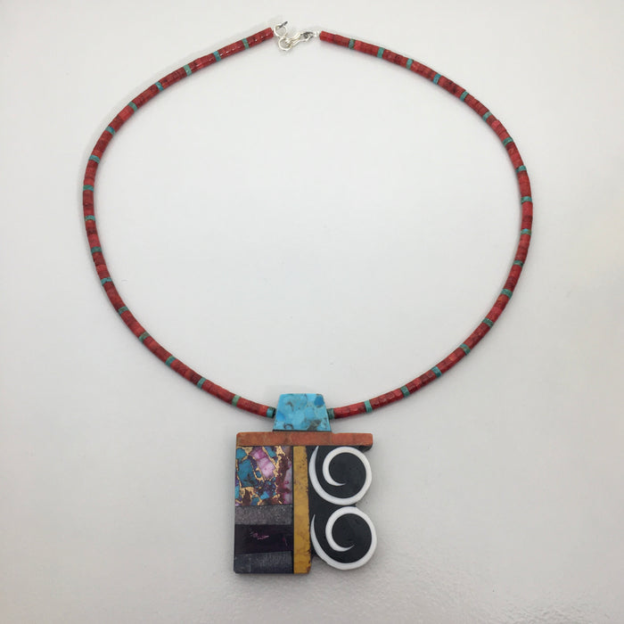 Vortices Necklace, by Mary L. Tafoya