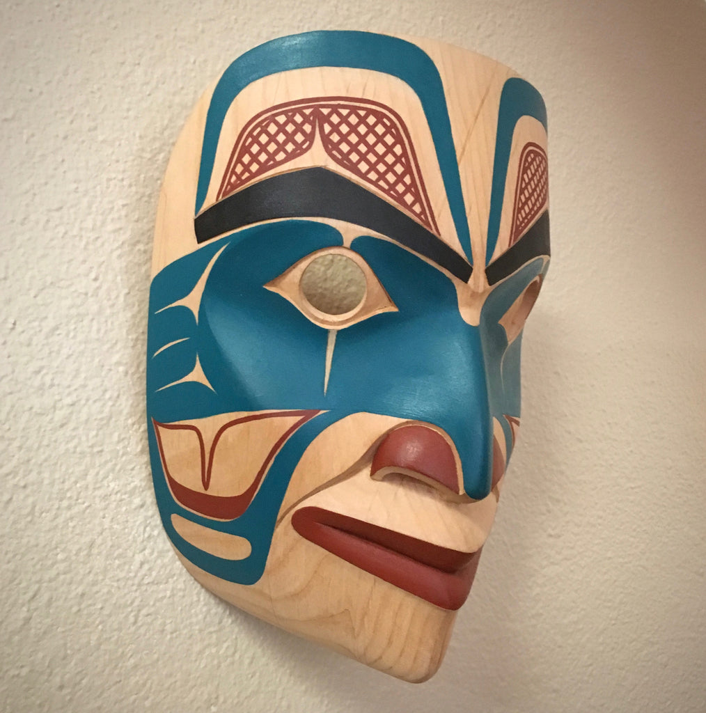 Portrait Mask, by David Boxley, at Raven Makes Gallery, Sisters, Oregon