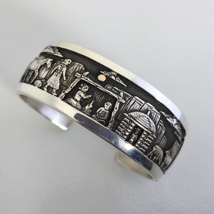 Navajo Storyteller Cuff Bracelet, by Cody Hunter