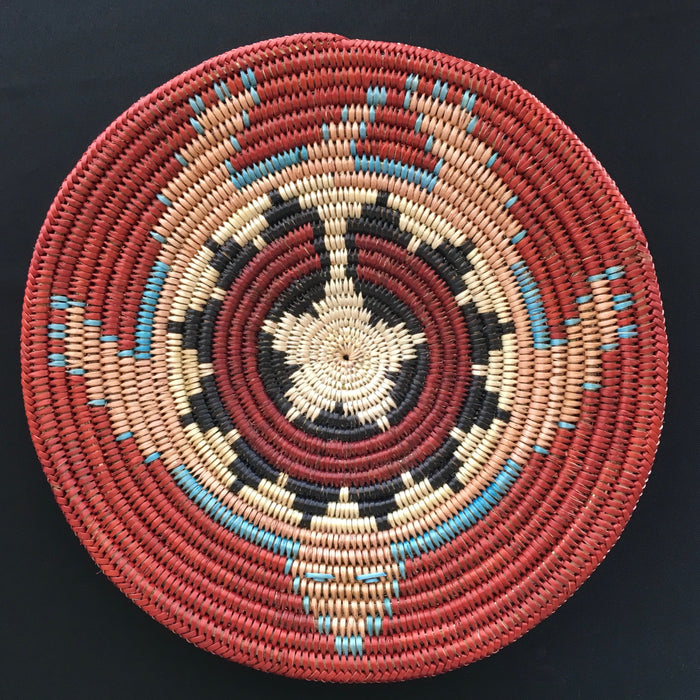 Navajo Basket, Turtle Basket, by Elsie Holiday, Diné Navajo Basket Weaver, at Raven Makes Gallery