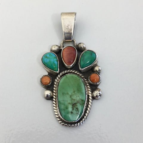 Multi-Stone Turquoise Pendant, by David Lister