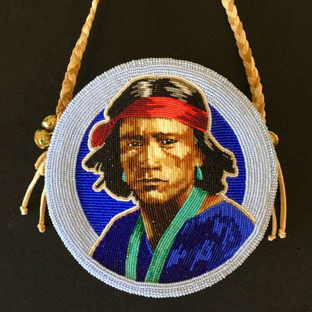 Beaded Portrait Bag, by Jackie Larson Bread, Beaded Bag