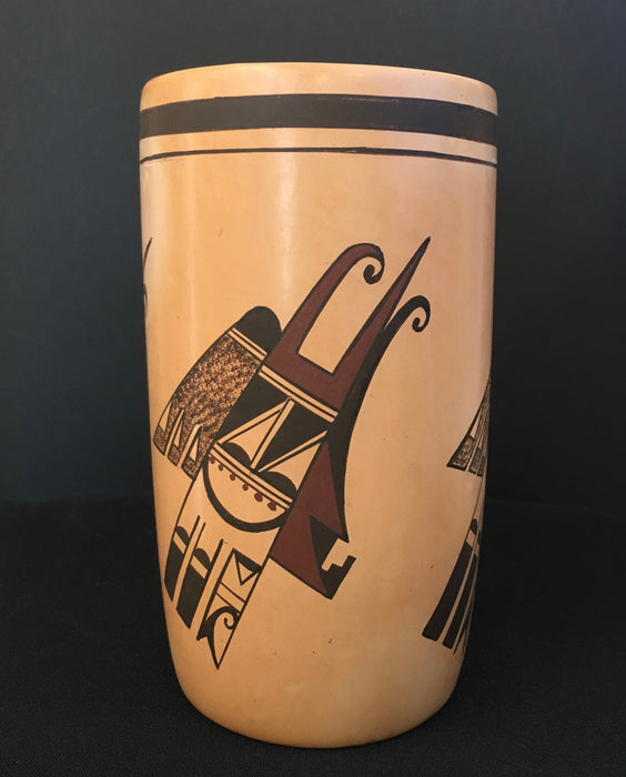 Hopi Polychrome Cylinder Pottery, by Fawn Navasie