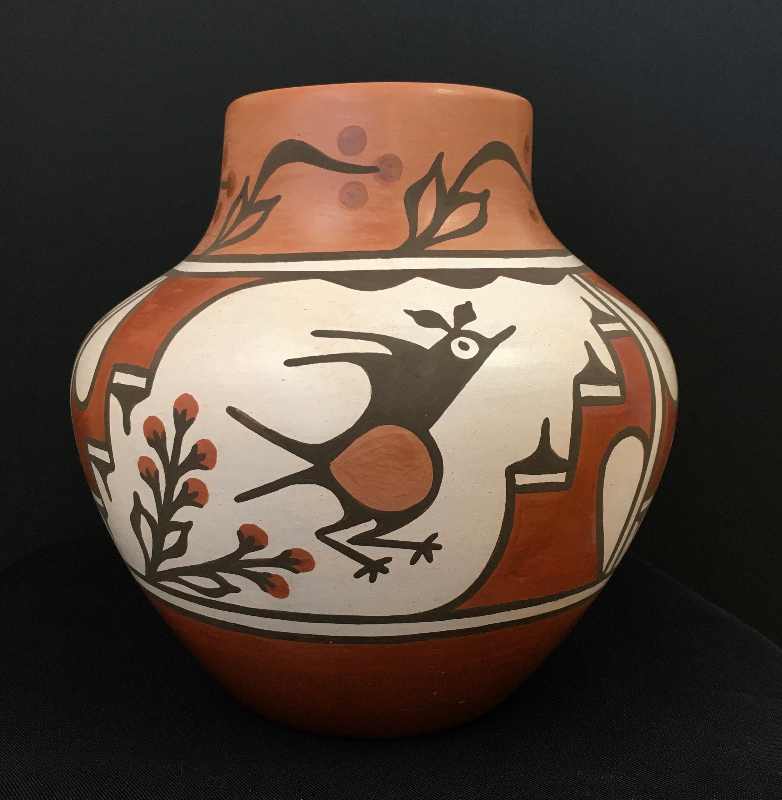 Zia Polychrome Pottery Jar, by Ruby Panana at Raven Makes Gallery in Sisters, Oregon