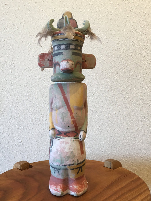 Tumoala Kachina Doll, Old Style, by Ferris Satala