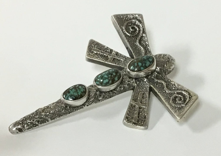 Three-Stone Dragonfly Pendant, by Gary Custer