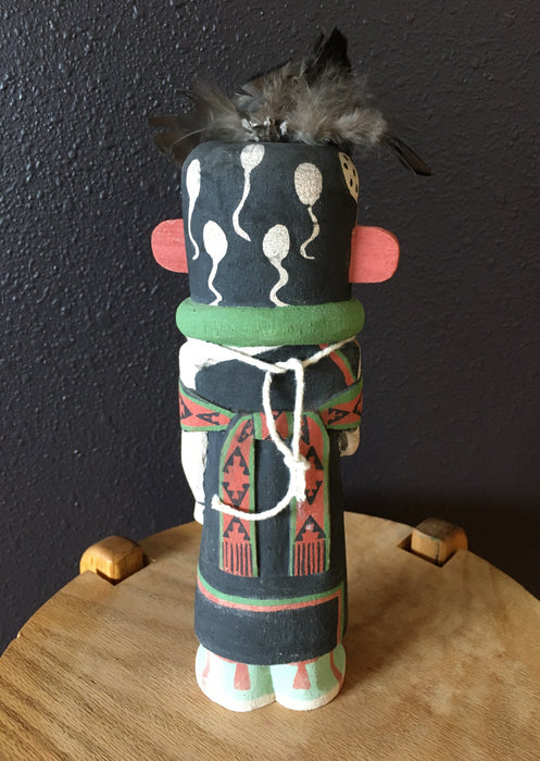 "Kwasaytaqa Kokopelli (Man in a Dress) Kachina Doll, by Ferris 'Spike"" Satala, Hopi"