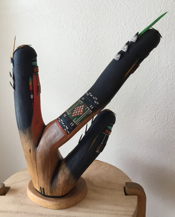 Three Long Hair Kachinas Sculpture, by Wilfred Kaye