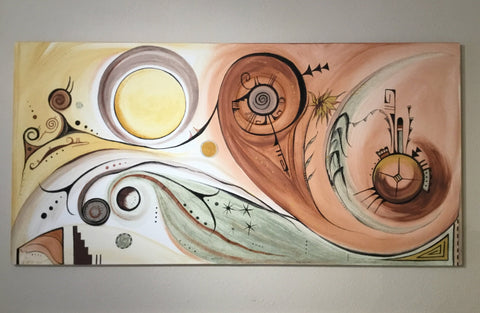 The Universe, Hopi Painting, by Donna Humetewa Kaye (Pesavensi)