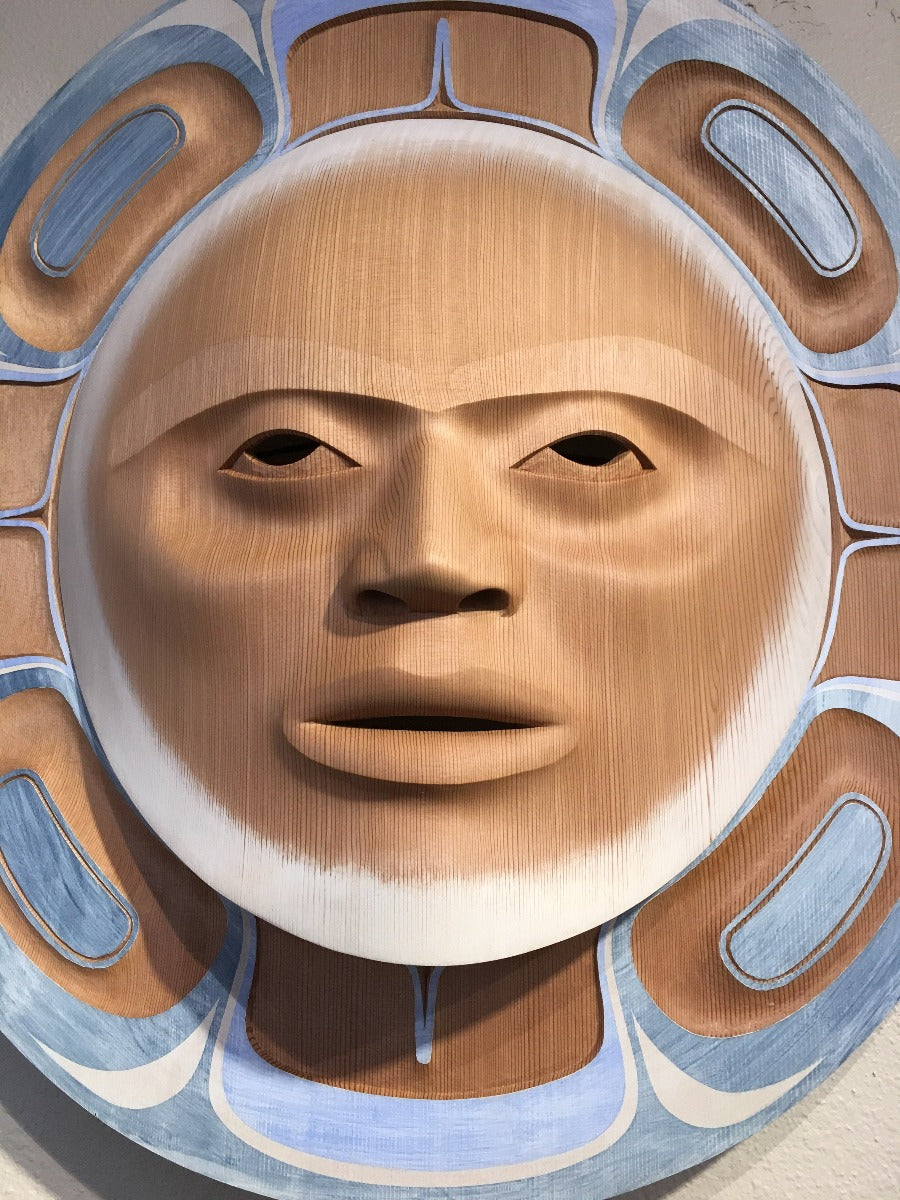 Moon Mask, Pacific Coastal Style Mask, at Raven Makes Gallery
