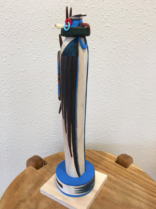 Zuni Eagle Wood Sculpture, by Gregg Lasiloo