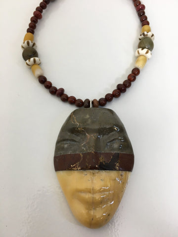 Mixed Marbles Pendant Necklace, By Cliff Fragua