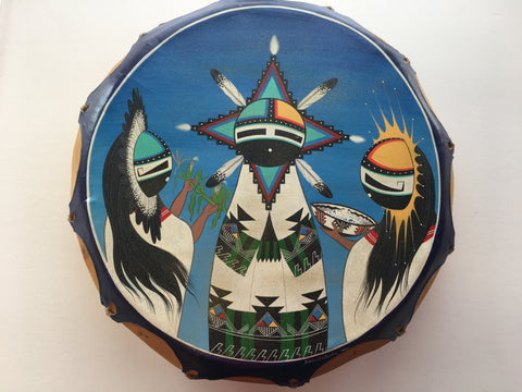 White Corn Maidens Drum, by Eldred Sanchez