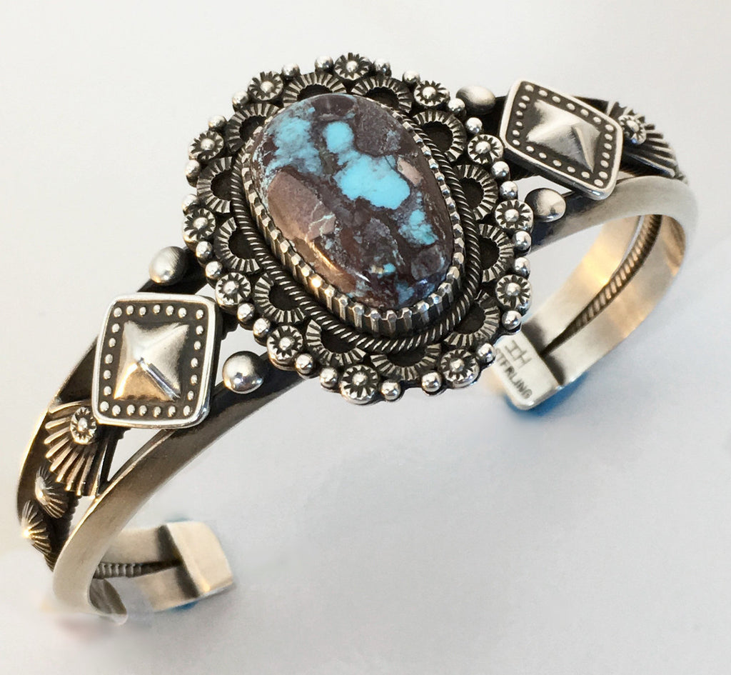 Sterling Silver and Bisbee Bracelet, by Ivan Howard