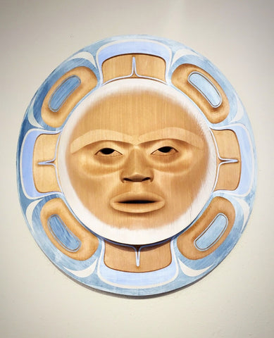 Pacific Northwest Coast Mask, Moon Mask, by Klatle-Bhi, at Raven Makes Gallery