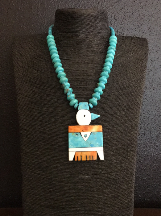 Thunderbird Mosaic Inlay Necklace, by Mary Louise Tafoya