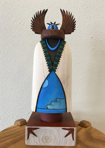 Crow Mother Zuni Kachina Sculpture, at Raven Makes Gallery