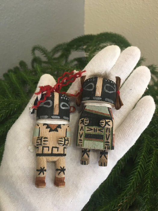 Mini-Kachina Kokopelli Couple, by Kevin Quanimptewa