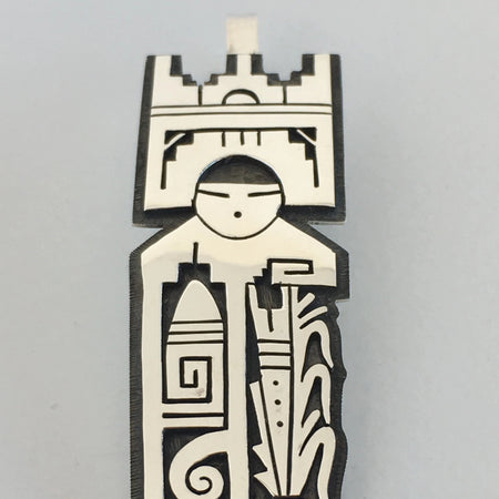Tablita Headdress Hopi Maiden Pendant, by Berra Tawahongva, Hopi, Arizona