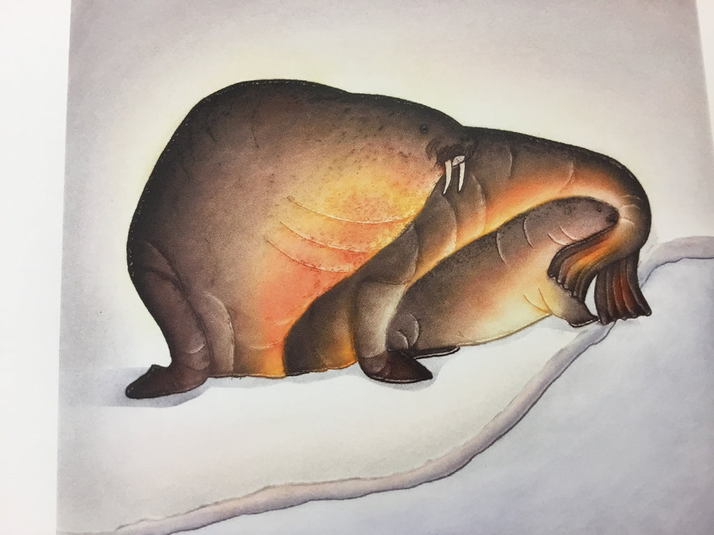 Sheltered Calf Cape Dorset Print, by Pitseolak Niviaqsi