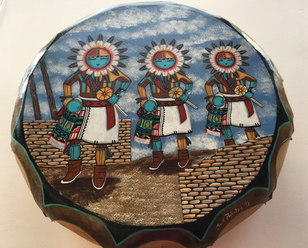 Sun Father Dancers Drum, by Scott Peynatsa