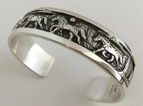 Running Horses Bracelet, by Cody Hunter