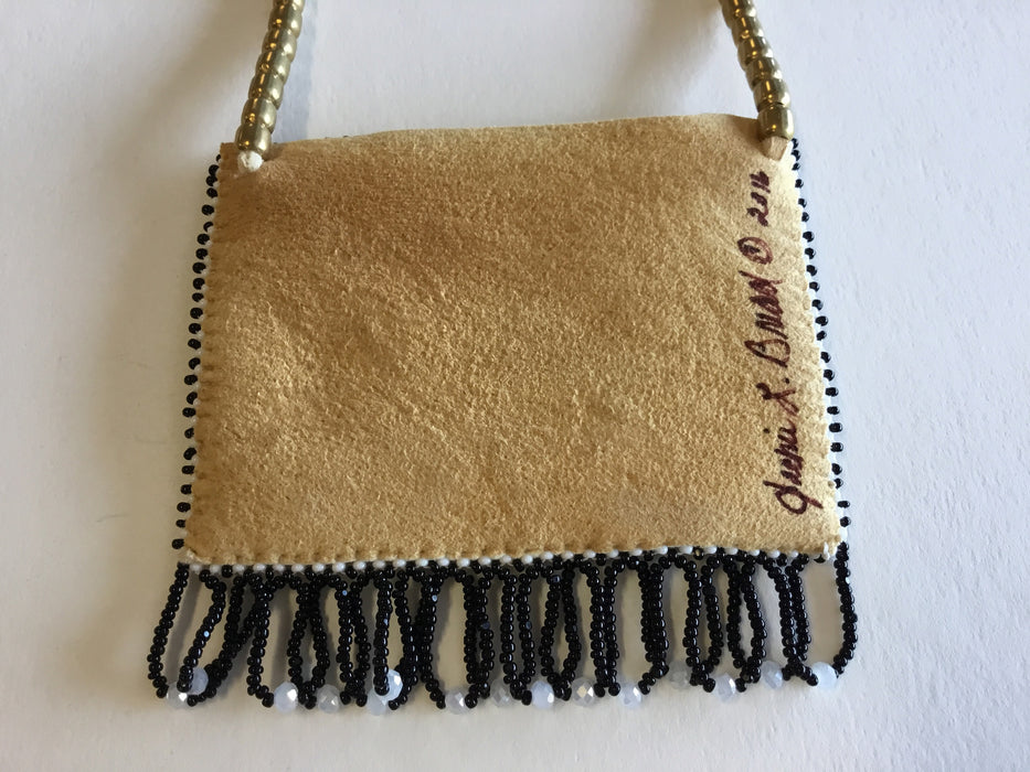 Black Star Horse Beaded Bag, by Jackie L. Bread