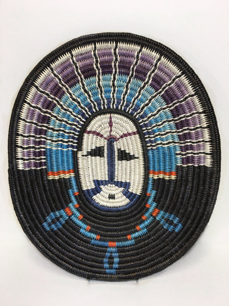 Navajo Basket, by Elsie Holiday, Moon Basket, at Raven Makes Gallery