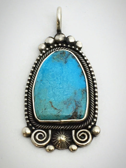 Kingman Turquoise Pendant, by Ivan Howard