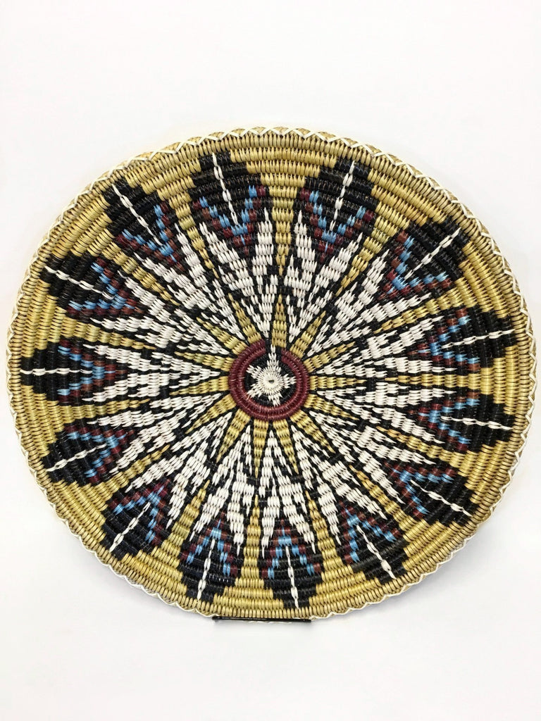 Feathers and Star Navajo Basket, by Elsie Holiday