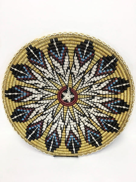 Navajo Basket, Feathers, by Elsie Holiday