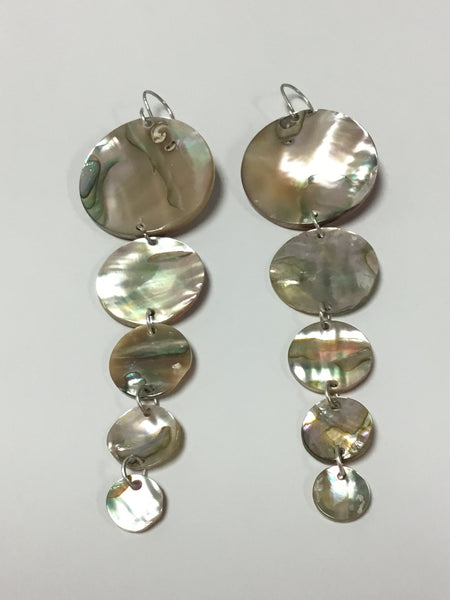 Abalone Earrings, by Leah Mata, Northern Chumash