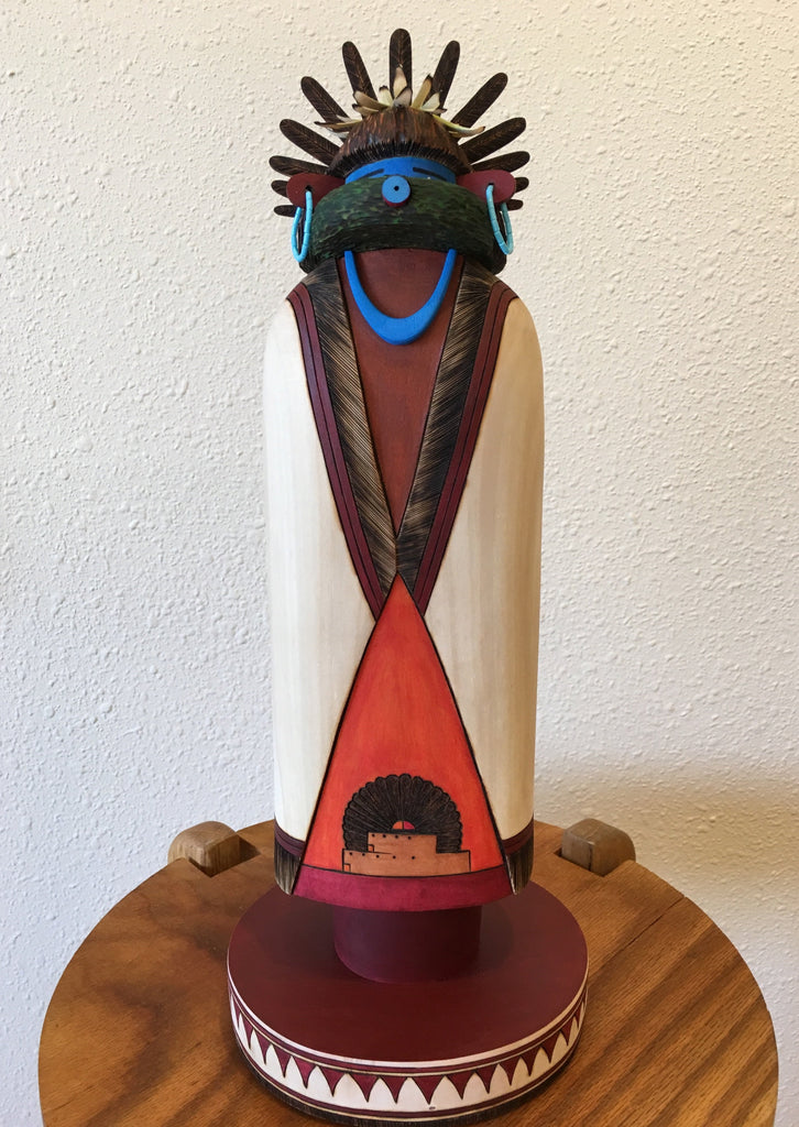 Early Morning Sculpture Kachina Doll, by Gregg Lasiloo