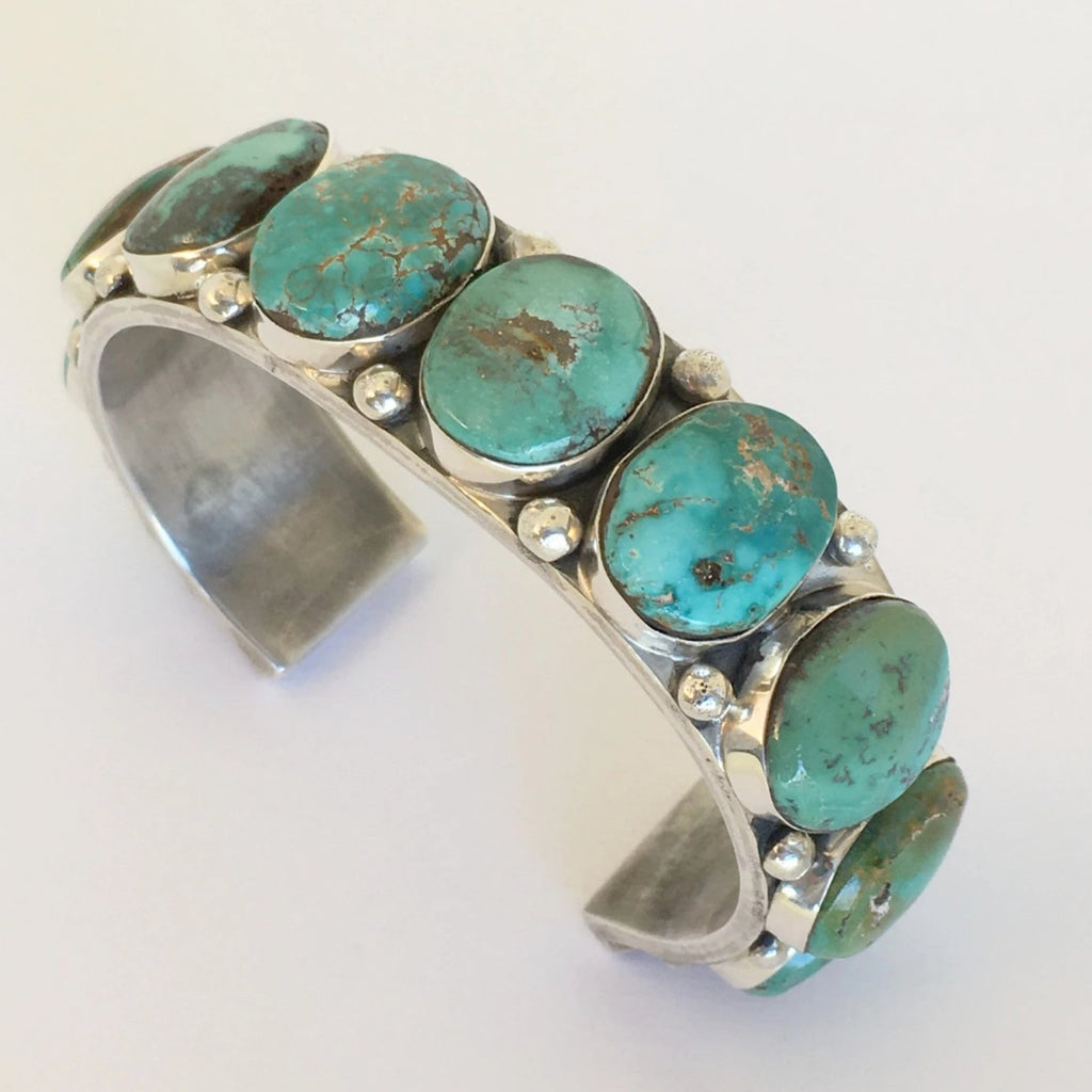 Lone Mountain Turquoise Bracelet, by David Lister