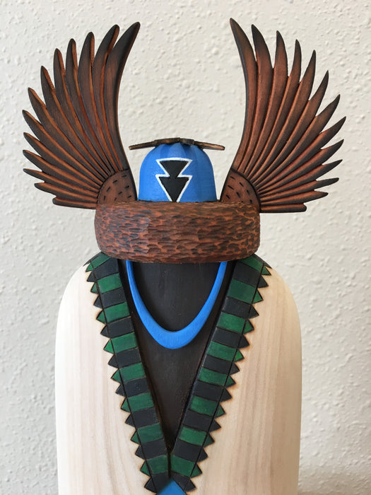 Crow Mother Kachina Doll Sculpture, by Gregg Lasiloo