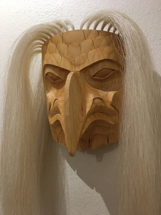Eagle Mask, Northwest Coast Mask, by John P. Wilson, Native Art at Raven Makes Gallery