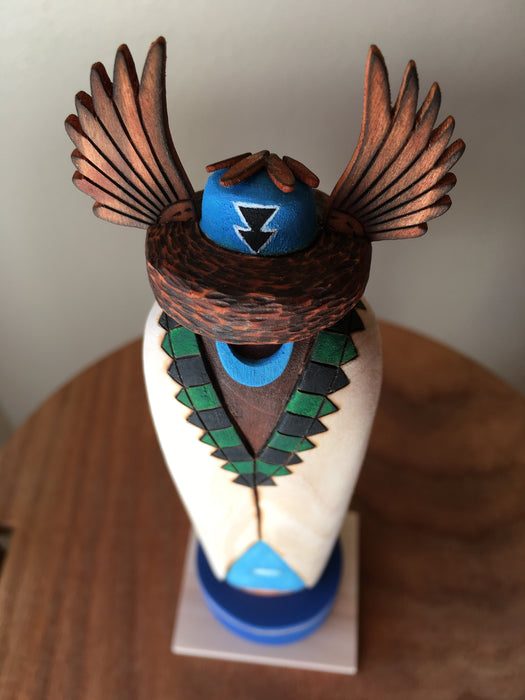 Crow Mother Sculpture Kachina Doll, by Gregg Lasiloo